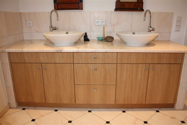 B der hf individueller innenausbau for Waschtischunterschrank echtholz