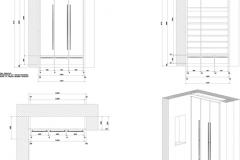 Beispiel CAD-Planung Layout Schuhschrank