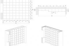 Beispiel CAD-Planung Layout Regal im Wohnzimmer