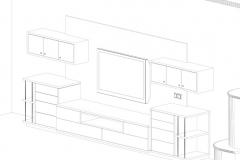 Beispiel CAD-Planung 3D Ansicht Medienschrank