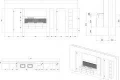 Beispiel CAD-Planung Badezimmereinrichtung